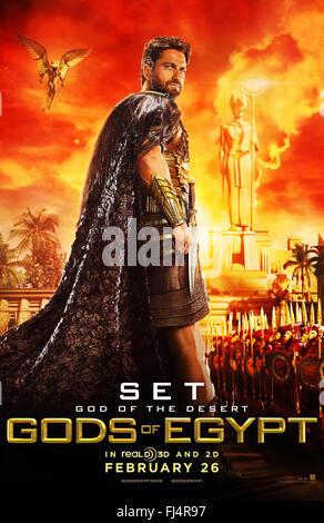 GODS OF EGYPT (2016)  GERARD BUTLER  ALEX PROYAS (DIR)  MOVIESTORE COLLECTION LTD - Stock Photo