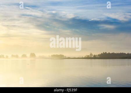 Lake Pfaeffikon in morning mood, Switzerland, Zuercher Oberland - Stock Photo