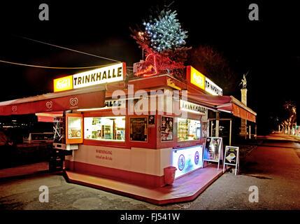 kiosk at the Rhine river bank, Germany, North Rhine-Westphalia, Duesseldorf - Stock Photo