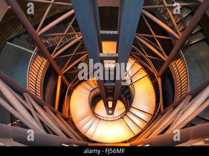 spiral stair to underground station Reinoldikirche, Germany, North Rhine-Westphalia, Ruhr Area, Dortmund - Stock Photo