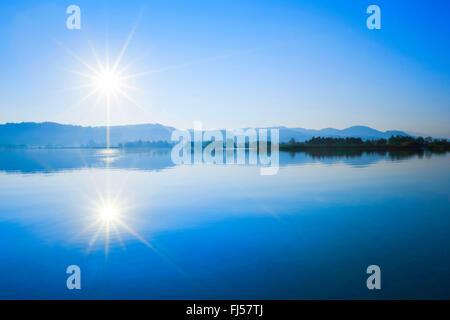 Lake Pfaeffikon, Switzerland, Zuercher Oberland, Auslikon - Stock Photo