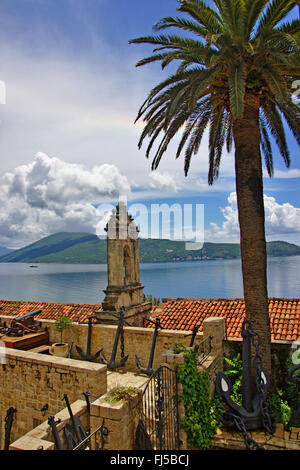 Herceg Novi in the bay of Kotor, Montenegro, Herceg Novi - Stock Photo