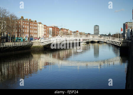 Ha'penny Bridge, Dublin, Ireland -1 - Stock Photo