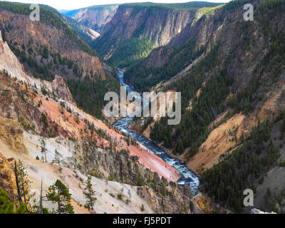 Grand Canon of Yellowstone, USA, Wyoming, Yellowstone National Park - Stock Photo