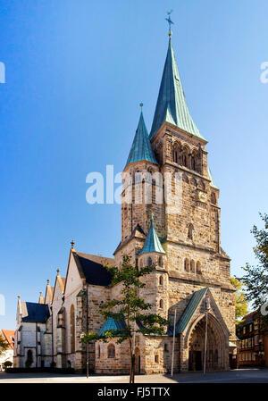 catholic parish church St. Laurentius, Germany, North Rhine-Westphalia, Muensterland, Warendorf - Stock Photo