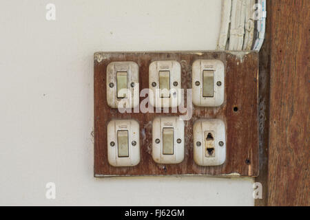 Old Switch on/off - Stock Photo