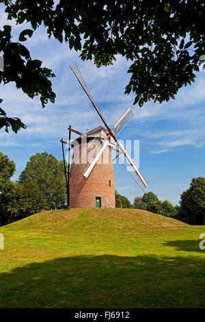 Geis Mill in Krefeld, Germany, North Rhine-Westphalia, Lower Rhine, Krefeld - Stock Photo