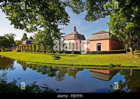 Castle Wickrath at the Niers, Germany, North Rhine-Westphalia, Lower Rhine, Moenchengladbach - Stock Photo