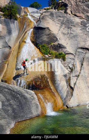 the canyon of Purcaraccia in Bavella mountains, France, Corsica - Stock Photo