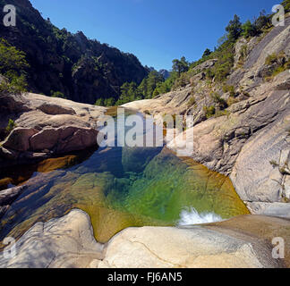 the canyon of Purcaraccia in Bavella mountain, France, Corsica - Stock Photo