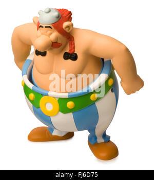 Obelix happy meal toy - Stock Photo
