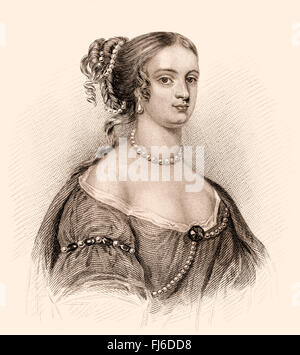 Rachel, Lady Russell, née Lady Rachel Wriothesley, c.1636-1723, an English noblewoman, heiress, and author - Stock Photo