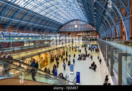 St Pancras Station, London, England, UK - Stock Photo