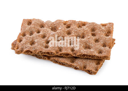 Crisp bread Isolated on White - Stock Photo