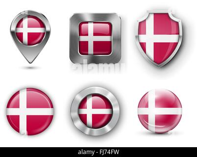 County Flag Bages - Stock Photo