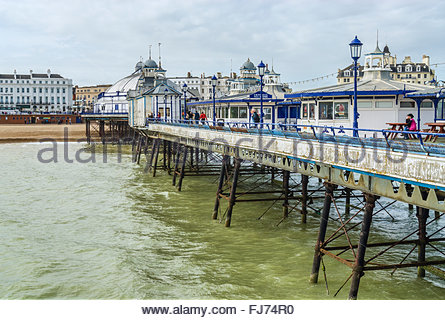 Historical Eastbourne Pier in East Sussex, South England | Historische Pier von  Eastbourne, East Sussex, Suedengland - Stock Photo
