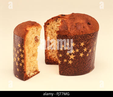 Italian Panettone cake, Rome, Rome Province, Lazio Region, Italy - Stock Photo