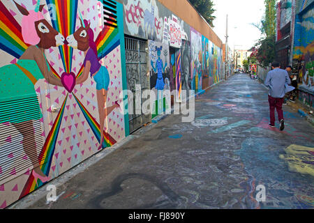 Murals in San Francisco's Mission district - Stock Photo