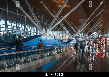 Early morning at Kuala Lumpur International Airport, Malaysia - Stock Photo