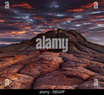 White Pocket rock formations, Vermilion Cliffs National Monument, Arizona, USA - Stock Photo