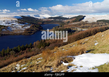 Taf Fechan Reservoirs, Brecon Beacons National Park, Powys, Wales, UK. - Stock Photo