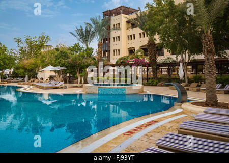 The Swimming Pool Area Of The Marriott Hotel On The Dead Sea Stock Photo 97304896 Alamy