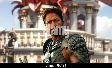 Gods of Egypt is a 2016 fantasy film featuring ancient Egyptian deities. The United States-Australia production - Stock Photo