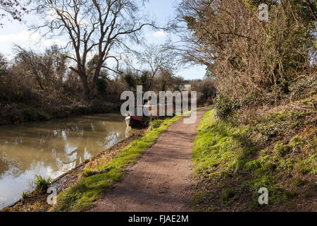 Kennet and Avon Canal, Bradford on Avon, Wiltshire - Stock Photo