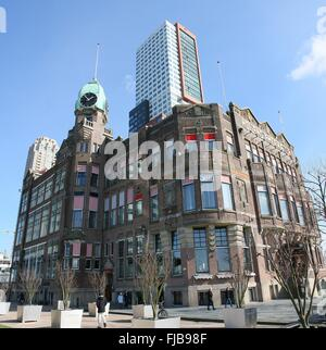 Hotel New York in Rotterdam, The Netherlands. Former offices of the Holland America Line. Art Nouveau style, dating - Stock Photo