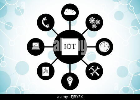 Composite image of internet of things - Stock Photo