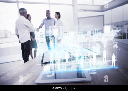 Composite image of digital interface - Stock Photo