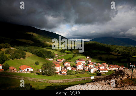 Amaiur, Baztán valley. Navarre. Spain - Stock Photo