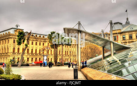 Exit from Icheri Sheher metro station in Baku - Stock Photo