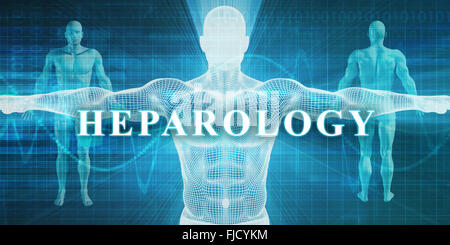 Heparology as a Medical Specialty Field or Department - Stock Photo