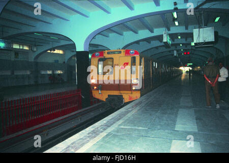 City metro underground railways, kolkata, west bengal, india, asia - Stock Photo