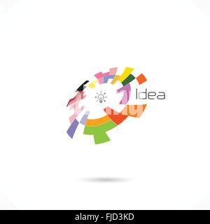 Creative circle abstract vector logo design template. Corporate business technology creative logotype symbol.Vector - Stock Photo