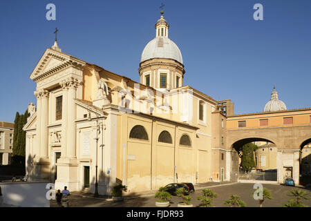 Chiesa di San Rocco all'Augusteo, Piazza Augusto Imperatore, Rome, Italy. - Stock Photo