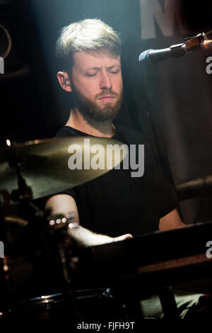 Milan Italy. 01th March 2016. The Canadian indie-rock band HALF MOON RUN performs live on stage at Circolo Magnolia - Stock Photo