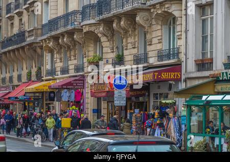 Paris France 2014 April 22, The historic buildings and roadways around Paris - Stock Photo