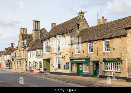 the high street in the Cotswold town of Lechlade on Thames, Gloucestershire, England, UK - Stock Photo