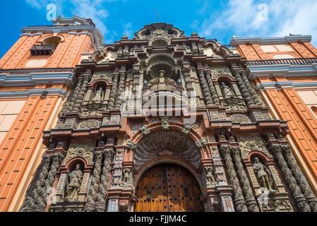 Basilica de Nuestra Senora de la Merced, Lima, Peru - Stock Photo
