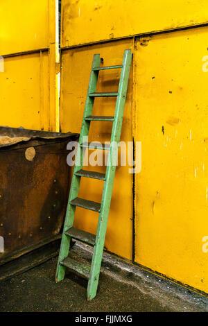 Ladder in industrial interior - Stock Photo