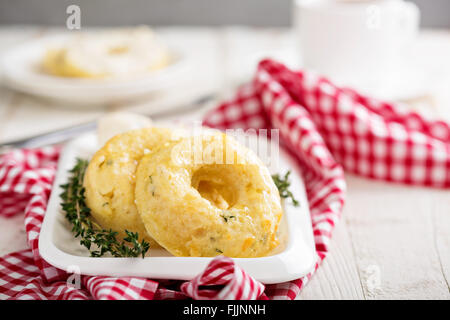 Savory cheese donuts with thyme - Stock Photo
