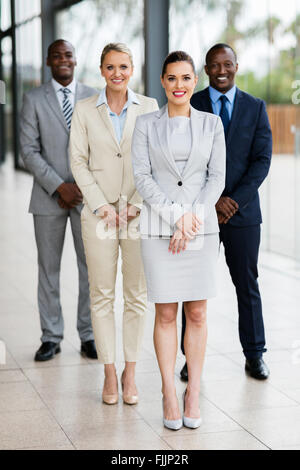 group of successful business people in modern office