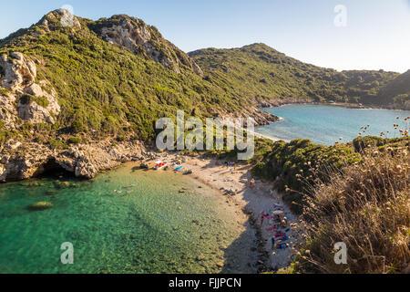 Landscape of Porto Timoni, Corfu, Greece - Stock Photo