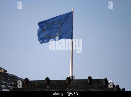 Fahne/ Flagge: EU/ Europaeische Union. - Stock Photo
