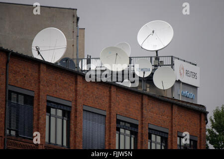 Satellitenschuesseln, Berlin-Mitte. - Stock Photo