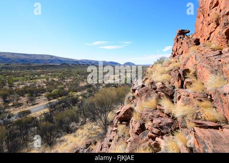 Namatjira Drive, West MacDonnell Ranges, Northern Territory, Australia - Stock Photo