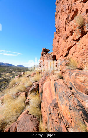 Namatjira Drive, West MacDonnell Ranges, Northern Territory, Australia - Stock Photo