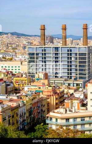 Tres xemeneies former industrial complex now fecsa - Oficina fecsa endesa barcelona ...